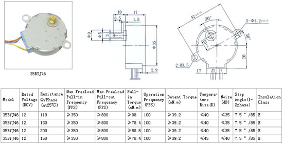 Uni Polar Stepper Motor Byj Vdc on 5 Phase Stepper Motor Wiring Diagram